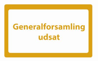 Generalforsamling  Tirsdag  d 1-9-2020 kl 19,30